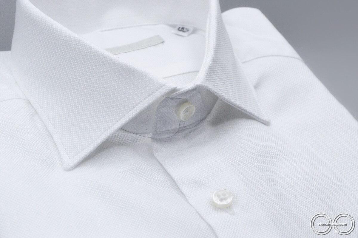 Camicia bianca uomo Granada tessuti camicia operato cotone