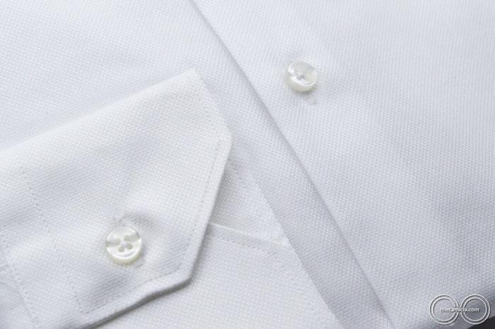 Camicia bianca uomo Granada tessuto operato cotone