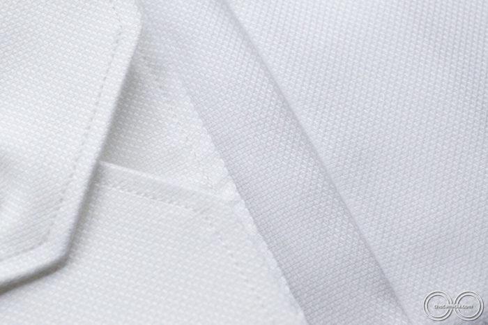 Camicia bianca uomo Granada tessuto operato di cotone