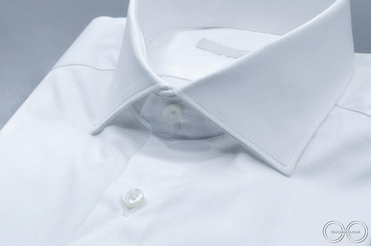 Camicia bianca uomo Siviglia tessuto twill 100% cotone 1