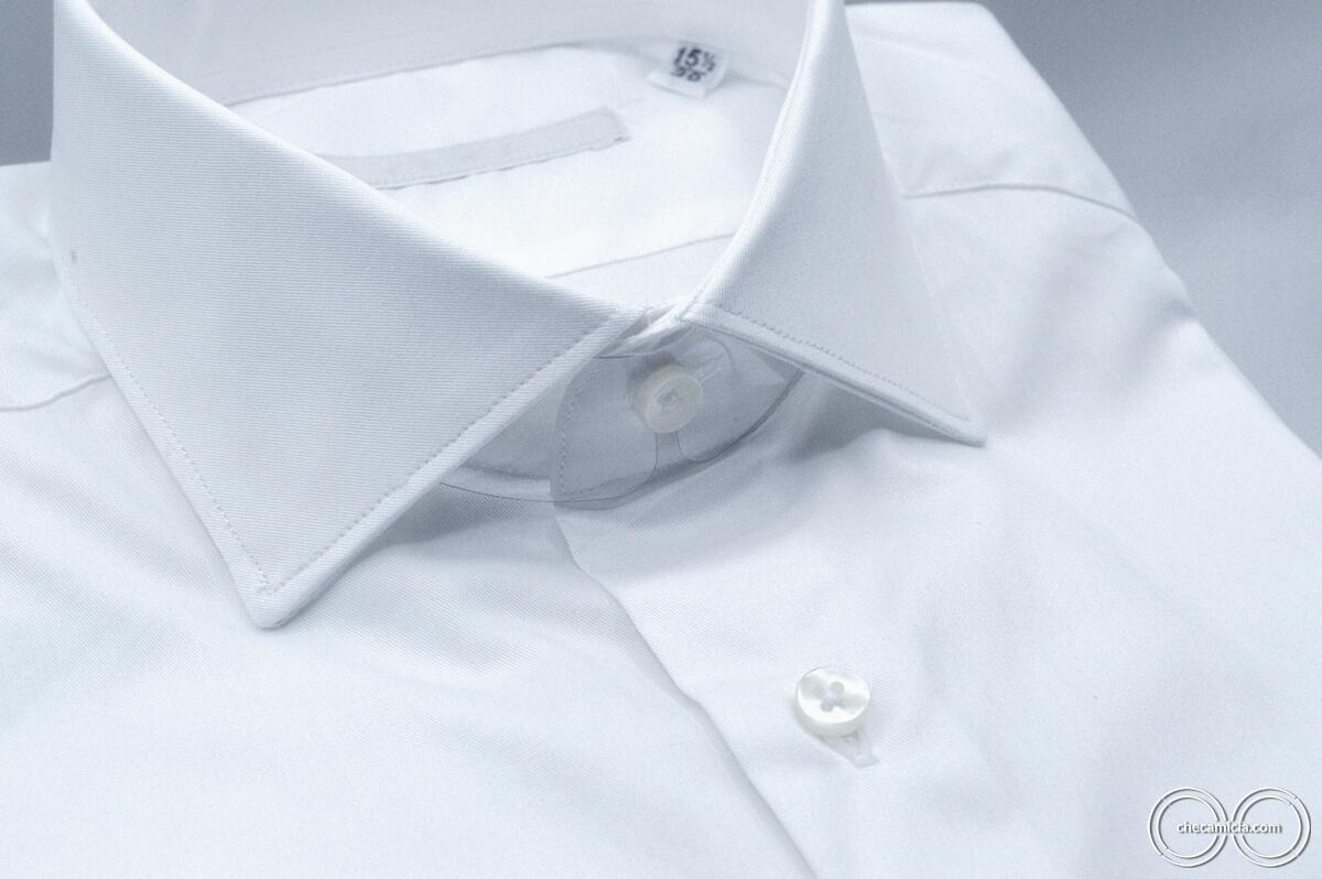 Camicia bianca uomo Siviglia tessuto twill 100% cotone 2