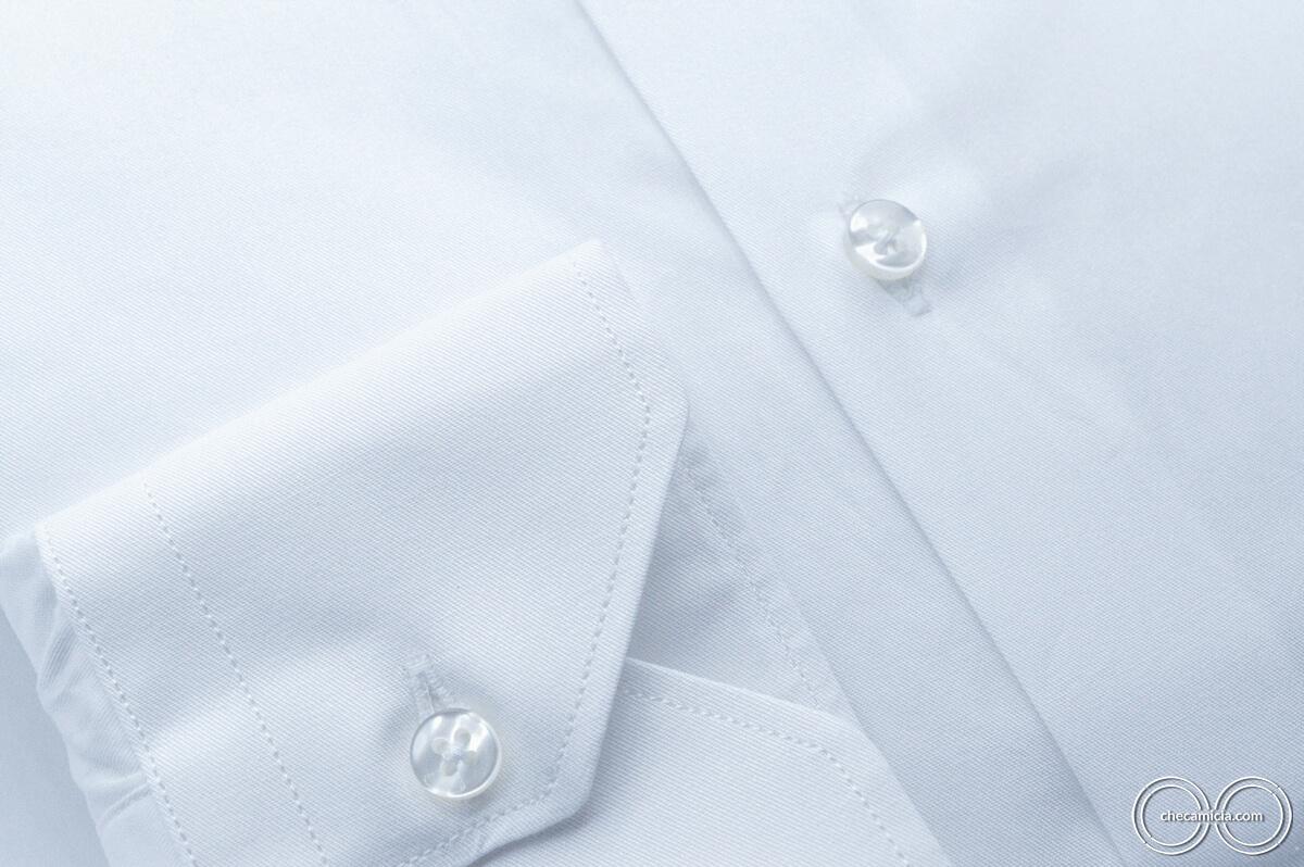 Camicia bianca uomo Siviglia tessuto twill 100% cotone 3