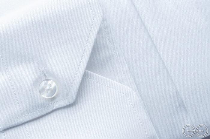 Camicia bianca uomo Siviglia tessuto twill 100% cotone 4