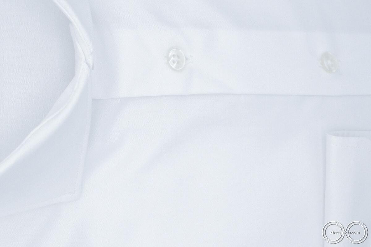 Camicia bianca uomo Siviglia tessuto twill 100% cotone 5