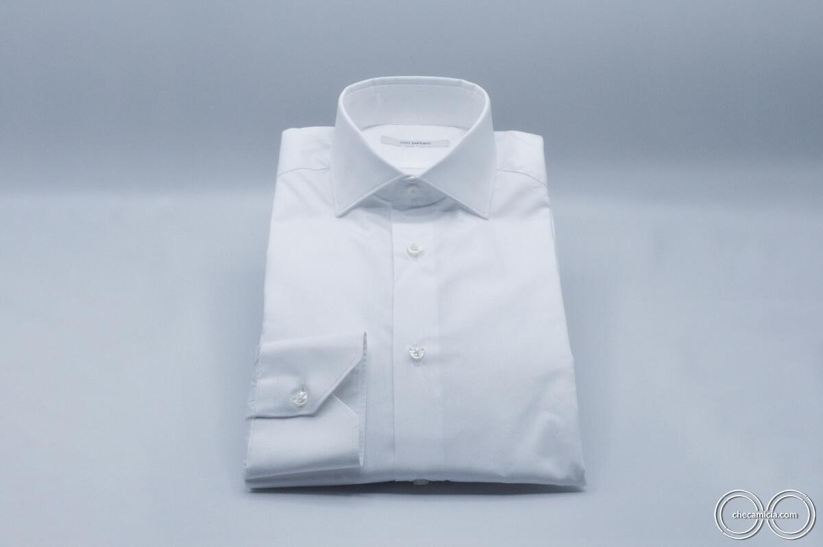 Camicia bianca uomo Siviglia tessuto twill 100% cotone 6