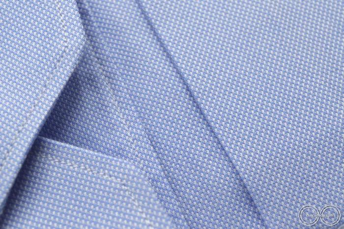 Camicia celeste uomo Petra tessuto domingo 100% cotone 1
