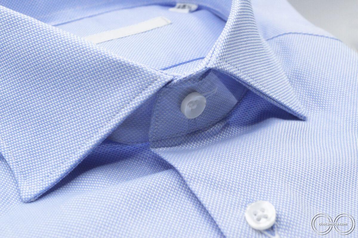 Camicia celeste uomo Petra tessuto domingo 100% cotone 2