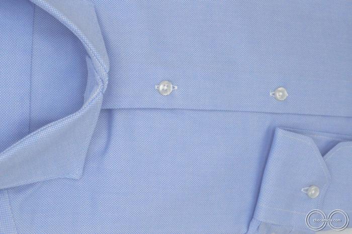 Camicia celeste uomo Petra tessuto domingo 100% cotone 3