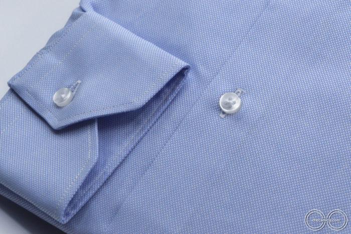 Camicia celeste uomo Petra tessuto domingo 100% cotone 6