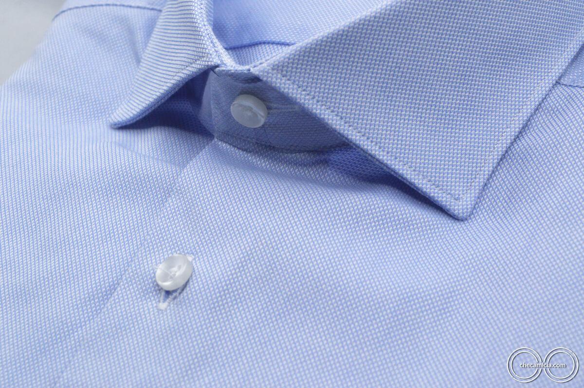 Camicia celeste uomo Petra tessuto domingo 100% cotone 7