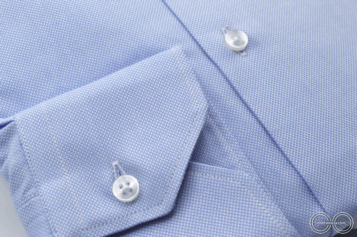 Camicia celeste uomo Petra tessuto domingo 100% cotone 8