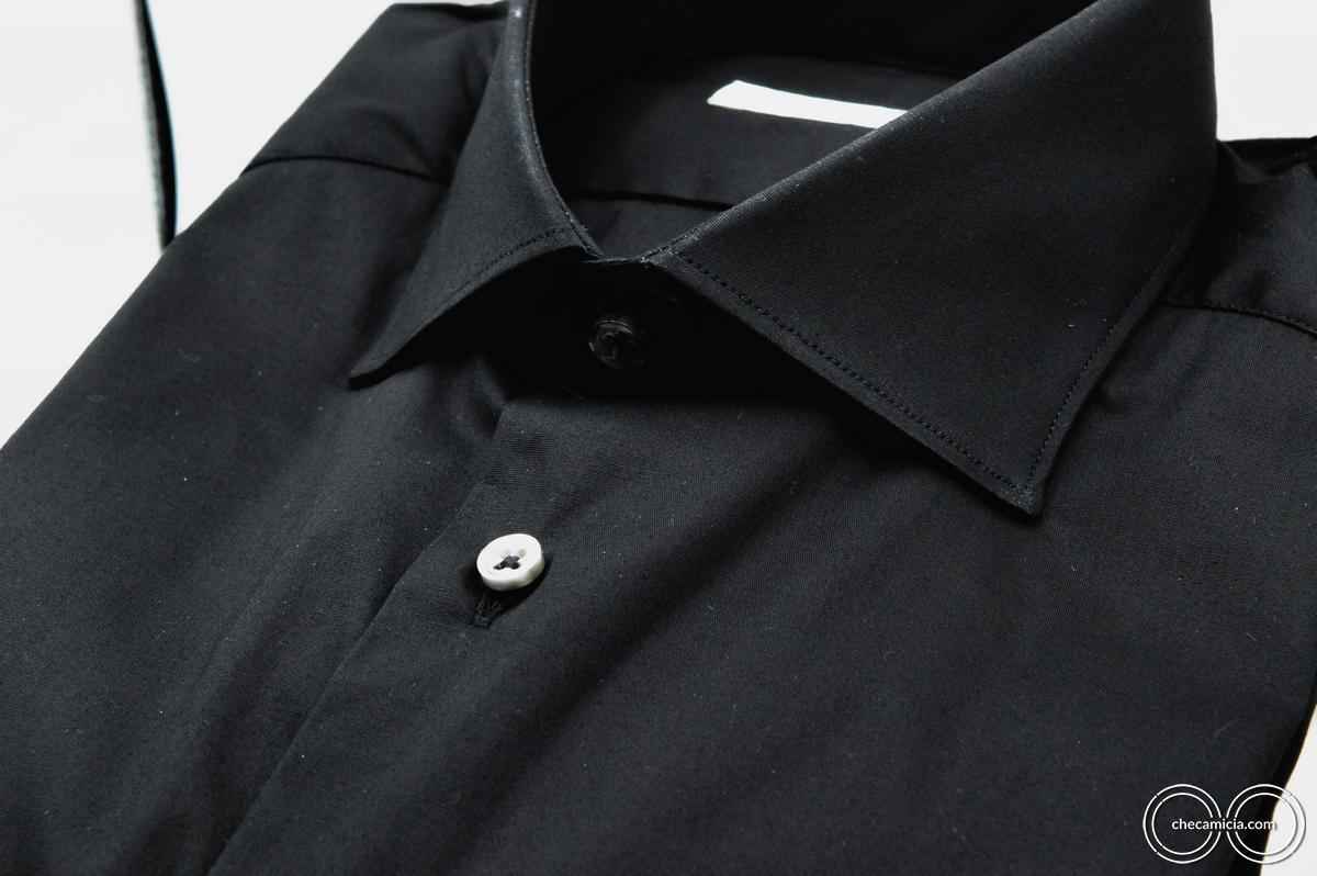 Camicia nera uomo Londra Tessuto Popeline CheCamicia