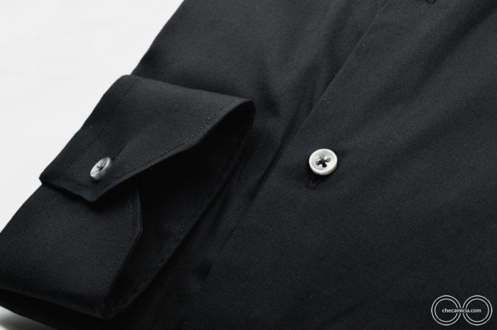 Camicia nera uomo Londra collo francese CheCamicia