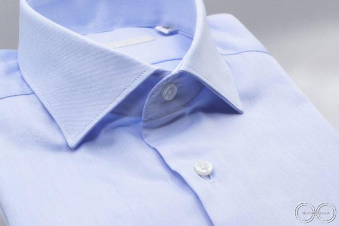 Marrakech collo camicia francese colore celeste