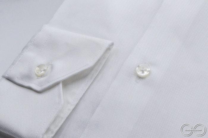 Tessuto operato di cotone camicia online Granada collo italiano