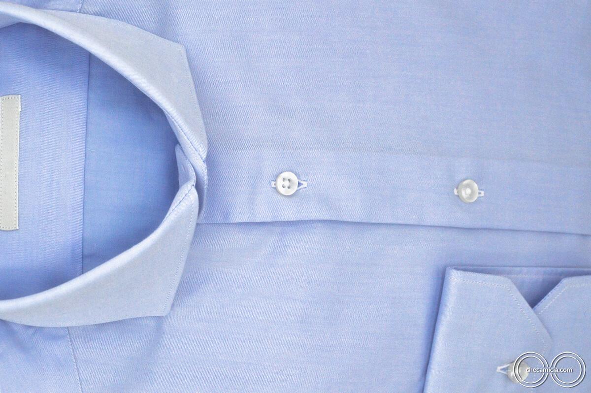 camicia uomo celeste Marrakech 100 cotone collo francese CheCamicia