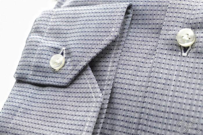 Camicia online CheCamicia colletto italiano tessuto operato di cotoneMumbai