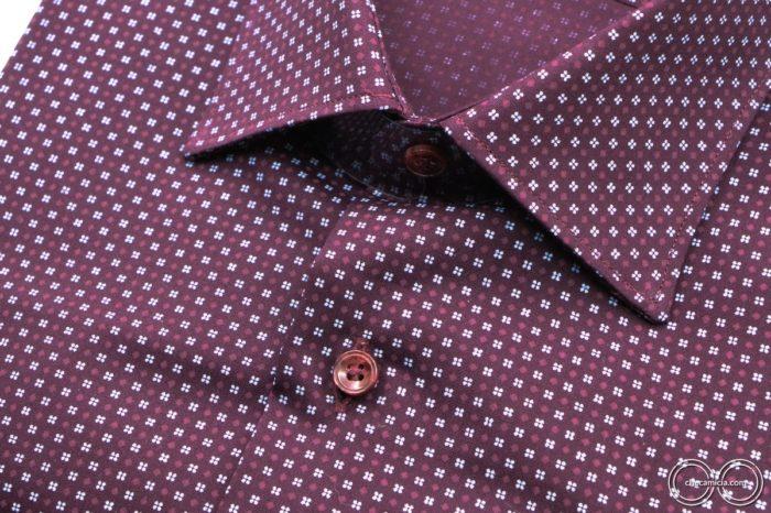 Camicie online bordeaux Metz collo italiano tessuto popeline