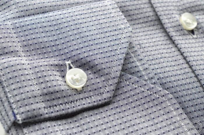 Camicie online tessuto operato di cotone camicia collo italiano Mumbai