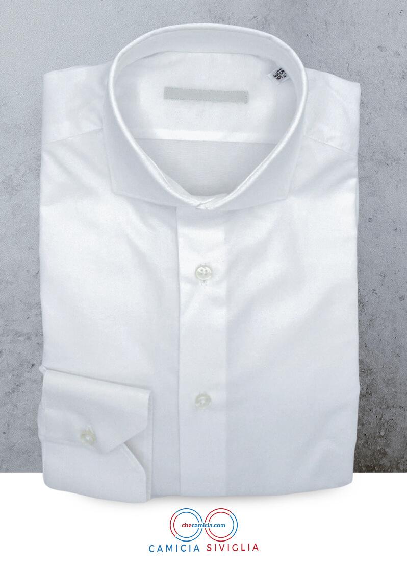 Camicia bianca uomo Siviglia tessuto twill 100% cotone