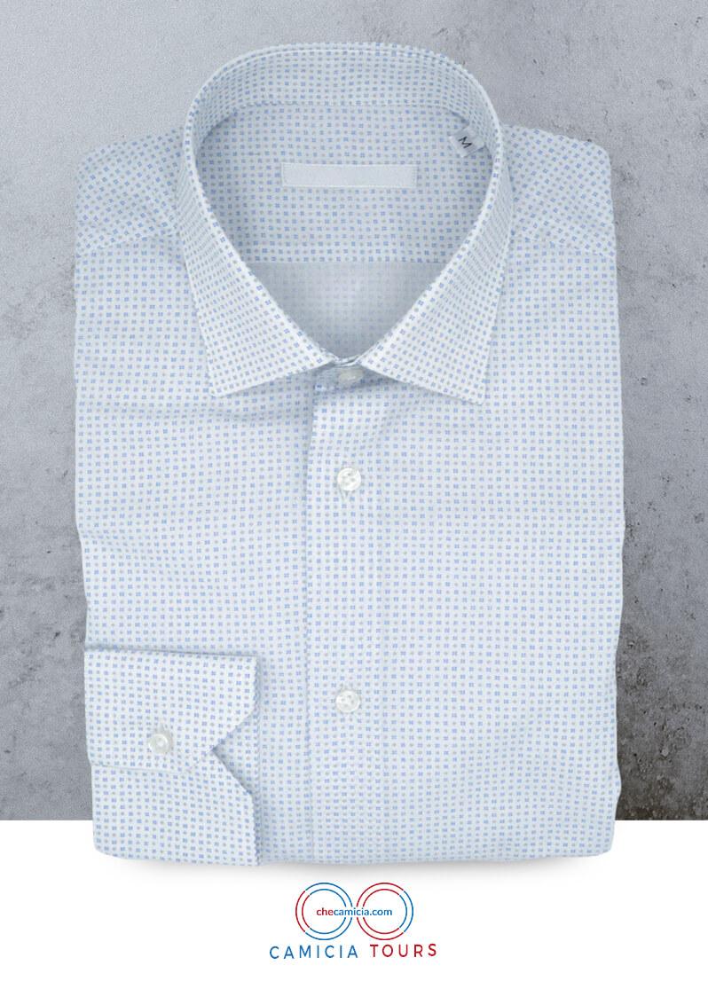 Camicia fantasia uomo Tours collo italiano tessuto popeline