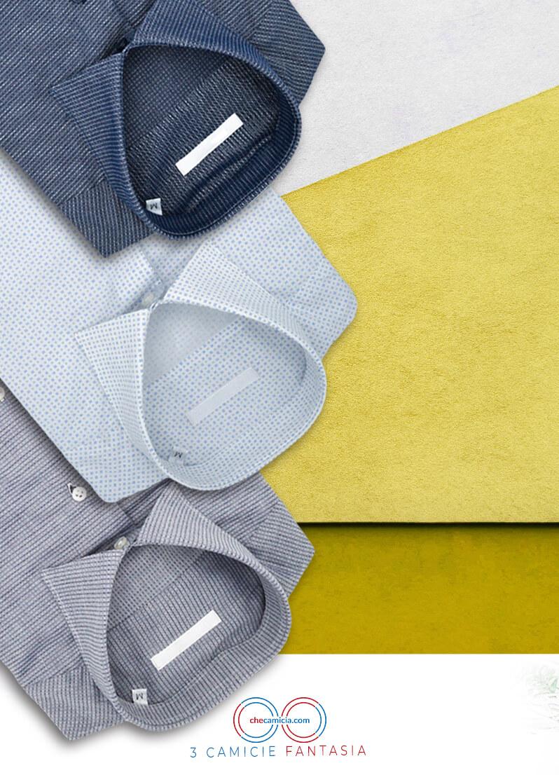 Camicie fantasia da uomo 100% cotone camicia online camiceria italiana