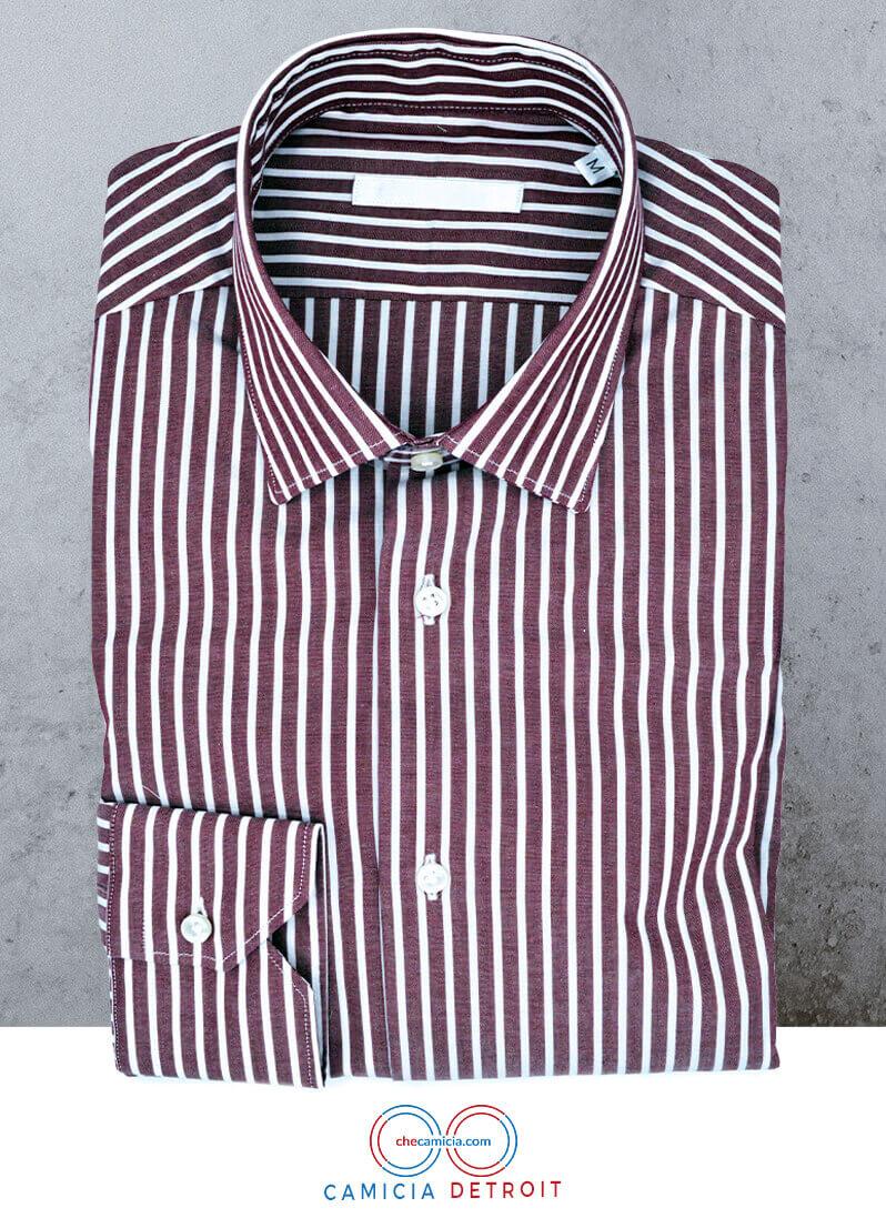 Camicie personalizzate a righe rosse Detroit collo italiano