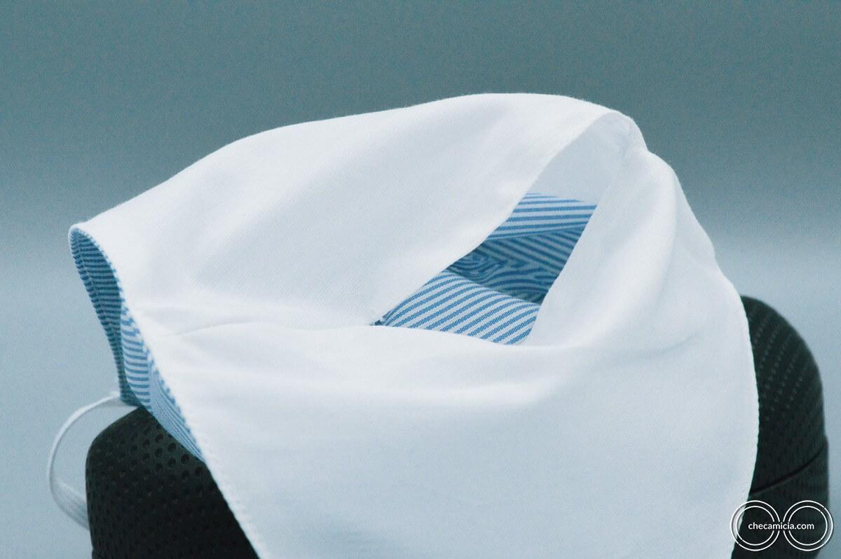 Mascherina tessuto lavabile mascherina protettiva checamicia