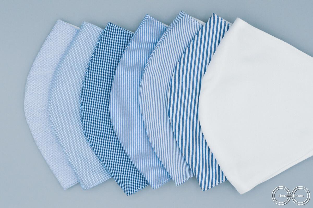 Mascherine lavabili in tessuto camicia checamicia_34