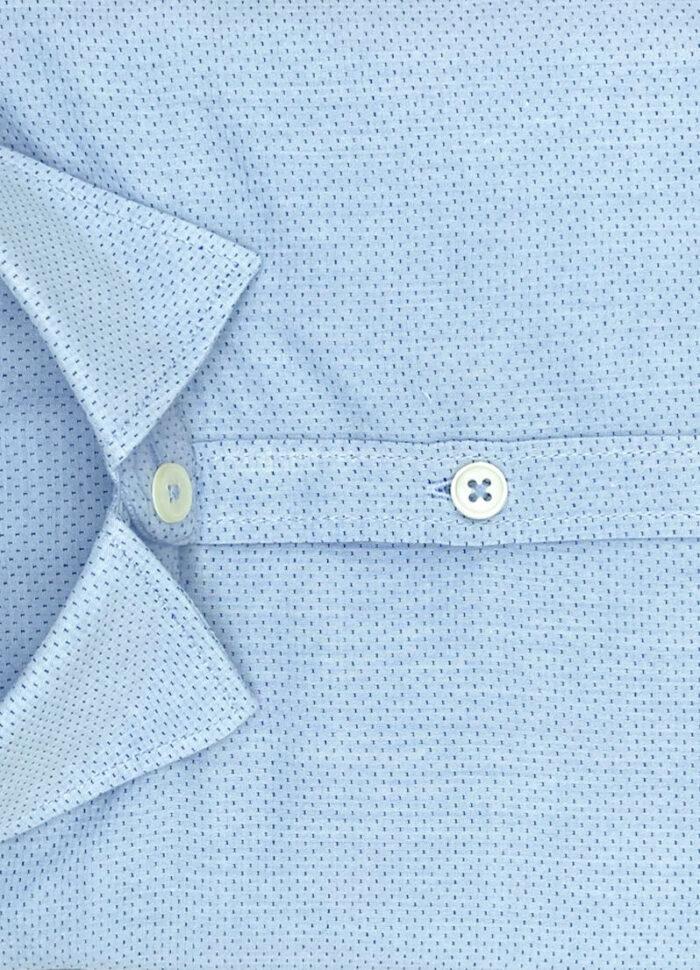 Camicia azzurra uomo a poi Atlanta operato cotone