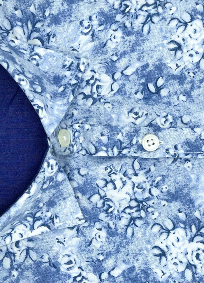 Camicia fantasia floreale uomo arras cotone collo button down