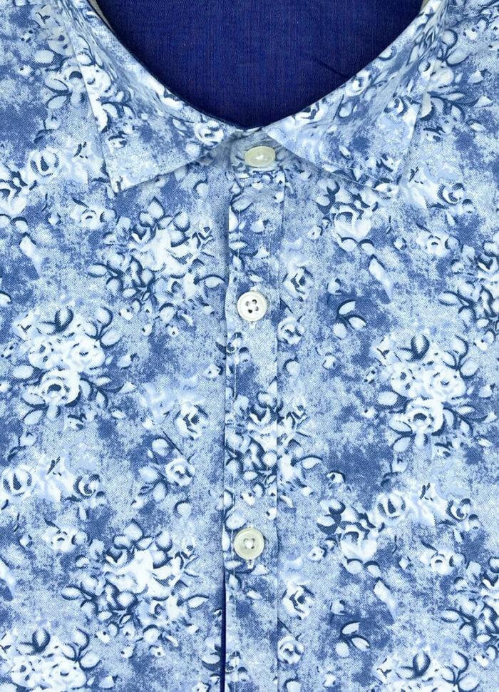 Camicia fantasia uomo floreale arras cotone collo button down