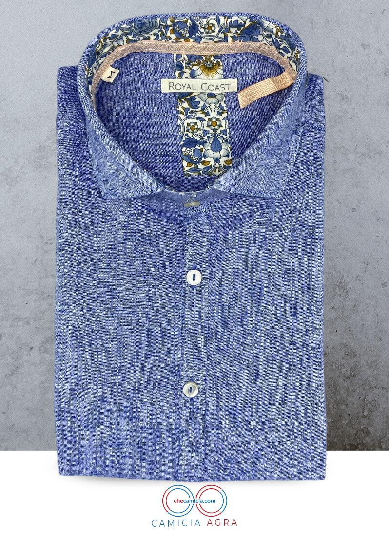 Camicia in lino cotone Agra camicia uomo sportiva
