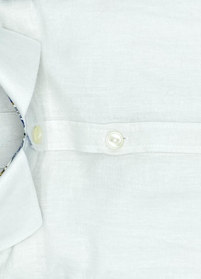 Camicia lino da uomo bianca camicie di lino Davis