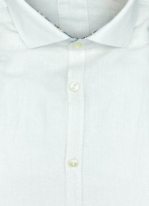 Camicia lino uomo bianca camicie di lino Davis