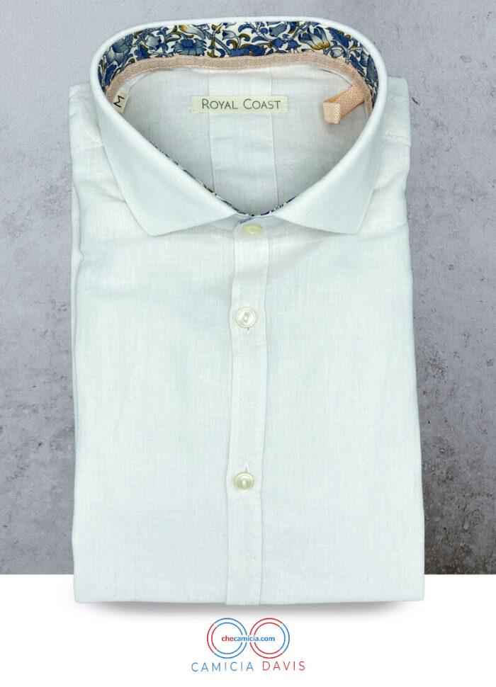 Camicia lino uomo bianca camicie di lino online Davis