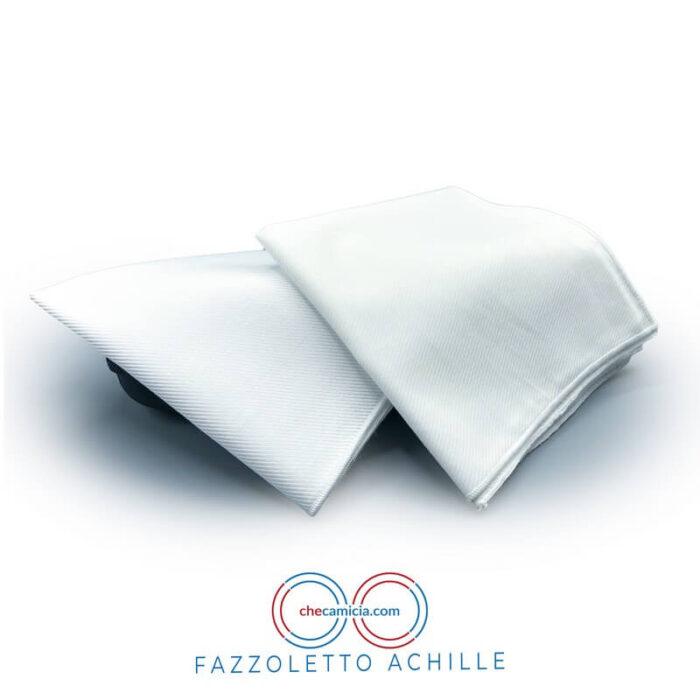 Fazzoletto da taschino bianco 100% cotone pochette uomo achille