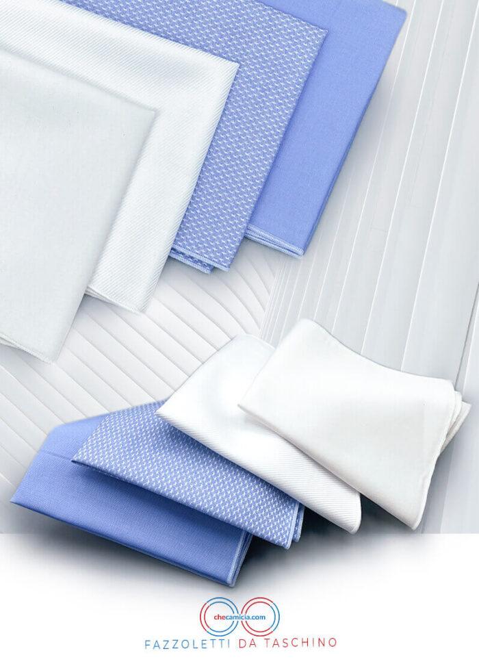 Fazzoletto da taschino in tessuto camicia 100% cotone