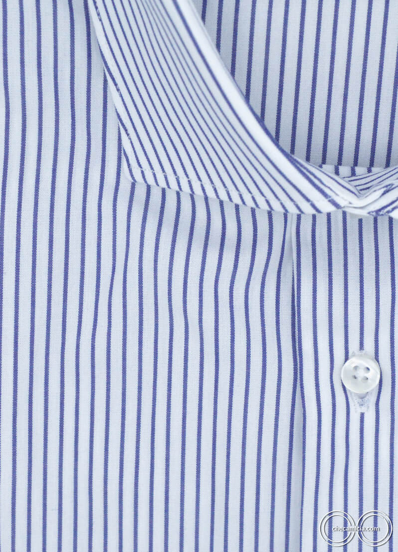 Camicia a righe blu da uomo Chicago camicie online uomo