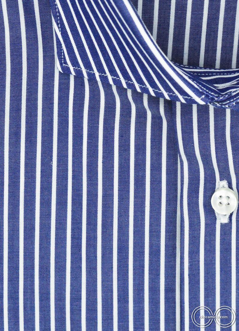 Camicia a righe blu da uomo Miami camicie online uomo