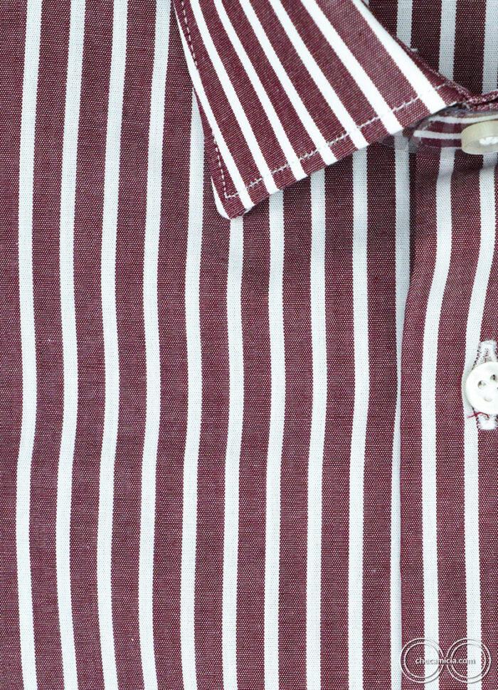 Camicia a righe bourdeaux da uomo Detroit camicie online uomo