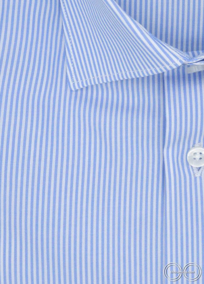 Camicia a righe celesti da uomo Seattle camicie online uomo