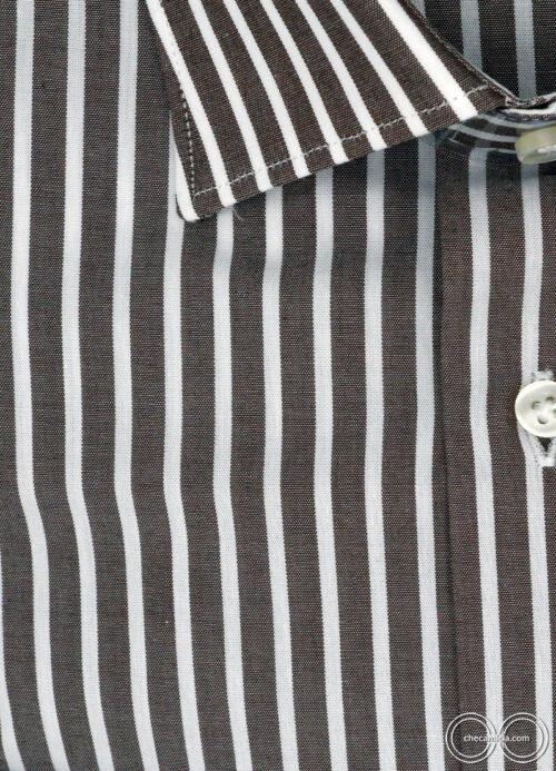 Camicia a righe marroni da uomo Denver camicie online uomo