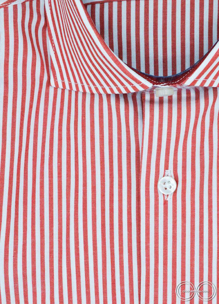 Camicia a righe rosse Orlando camicie online uomo