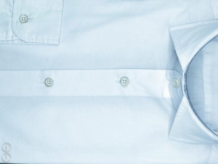 Camicia bianca uomo tessuto cotone operato 100 sumatra checamicia