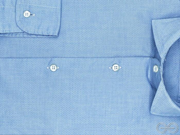 Camicia celeste uomo tessuto cotone operato 100 bali checamicia
