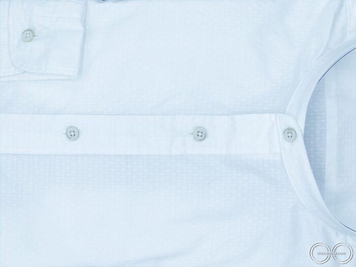 Camicia collo coreana uomo bianca Zanzibar camicie uomo online