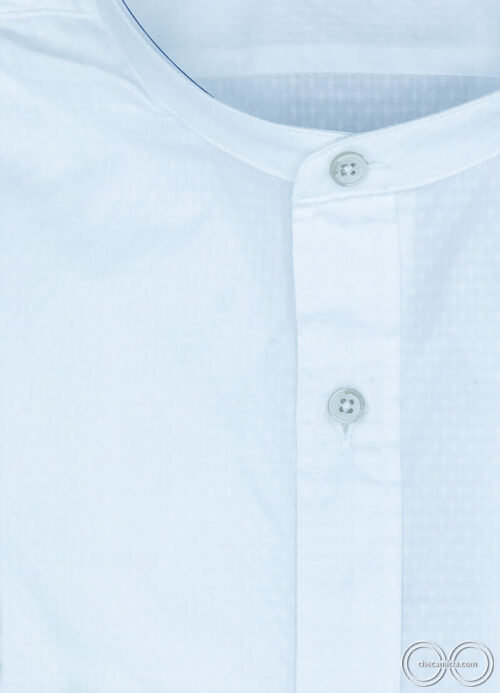 Camicia coreana uomo bianca Zanzibar camicie online uomo