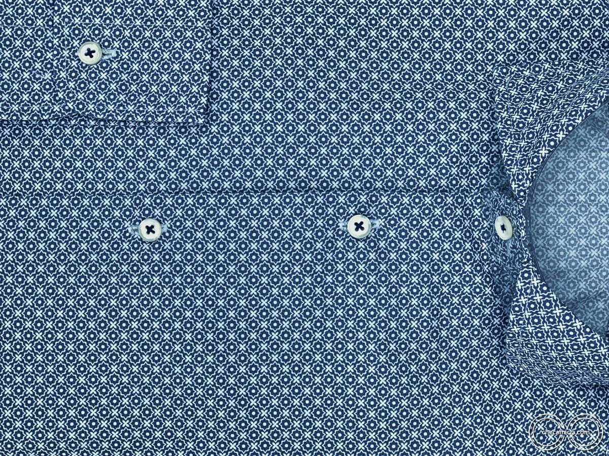 Camicia fantasia blu collo alla francese uomo camicie online bangkok checamicia