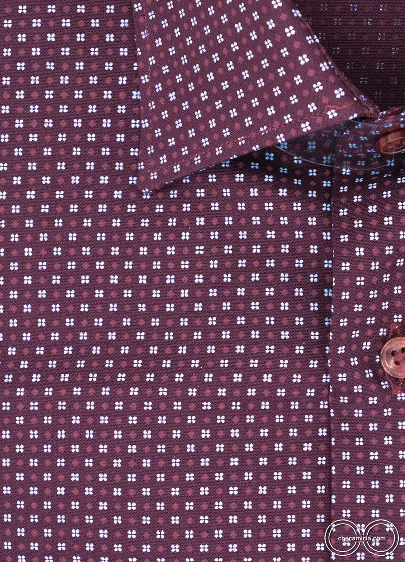 Camicia fantasia bourdeaux da uomo Metz camicie online uomo
